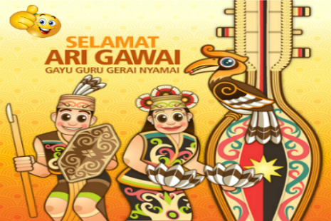 Festival clipart gawai Card Greeting thumbnail on Gawai