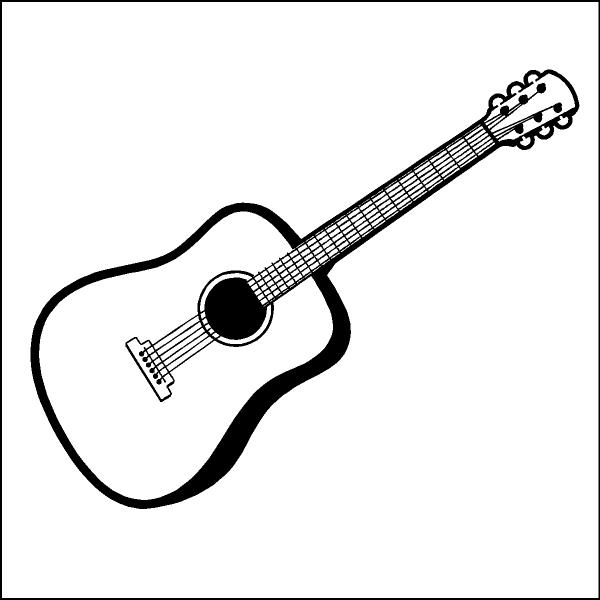 Festival clipart guitar art Guitar black white art WikiClipArt
