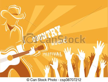 Festival clipart guitar art Country music of playing with