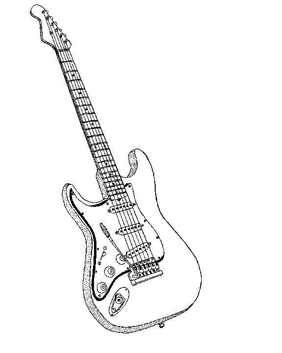 Festival clipart guitar art Guitar black Black clipart white