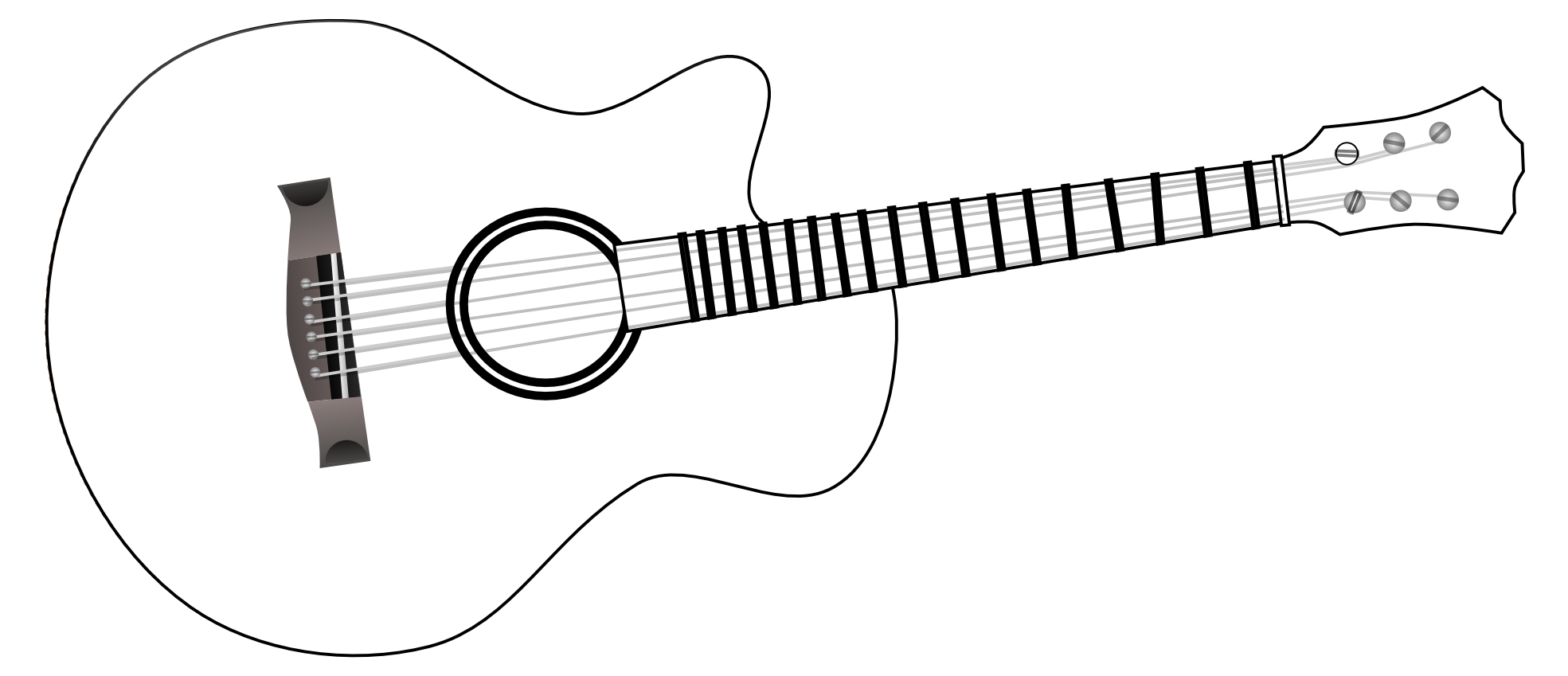 Festival clipart guitar art Guitar black And white clipart