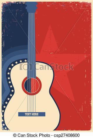 Festival clipart guitar art Concert guitar music csp27408600 of