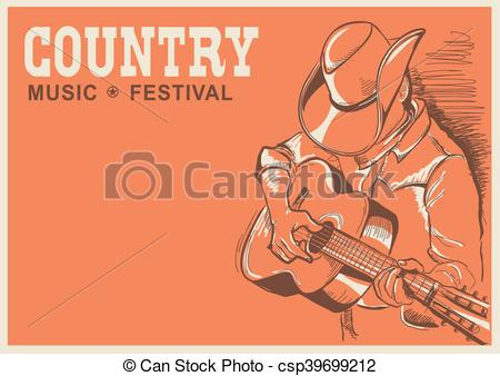 Festival clipart guitar art American country American musician with