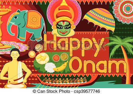 Festival clipart happy Onam festival Onam celebration background