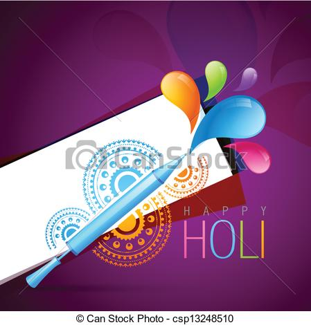 Indian clipart holi Clip of festival indian