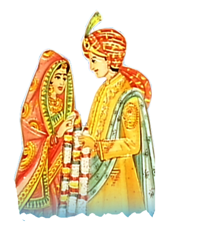 Indian clipart bride groom >> Home and  >