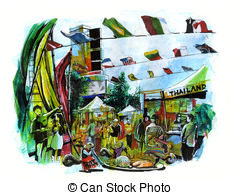 Festival clipart international trade International Stock 376 International Illustrations