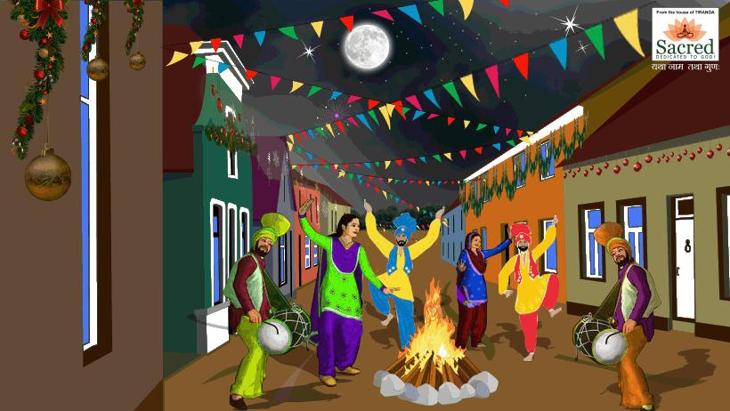 Festival clipart lohri festival The is Drawing Indian most