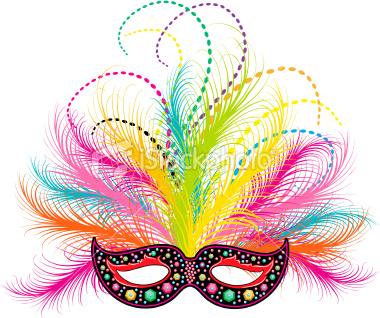 Mask clipart party Vector Mardi Art Stock Stock