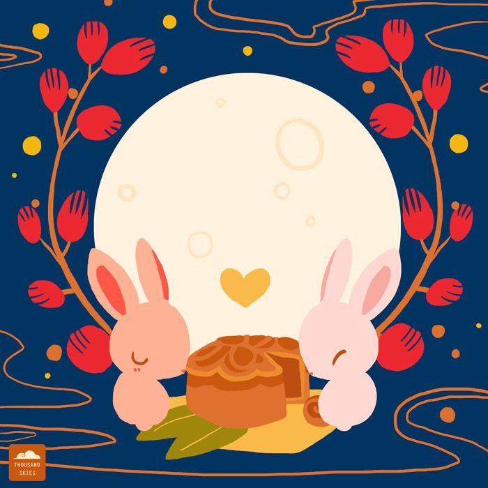 Harvest Moon clipart lantern festival Of autumn Happy Pinterest Mid