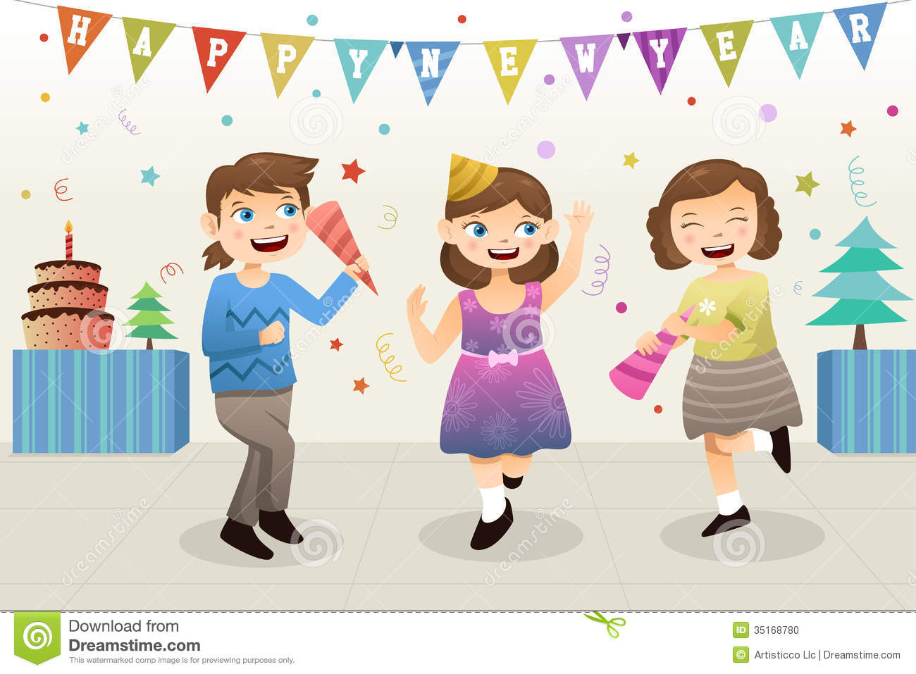 Festival clipart new year's Year New Happy new Party