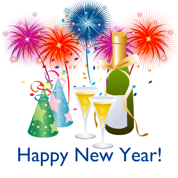 Sparklers clipart new years eve 2 cliparts year Year Happy
