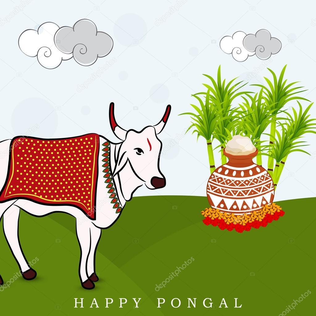 Festival clipart pongal festival Vector Stock — — Pongal