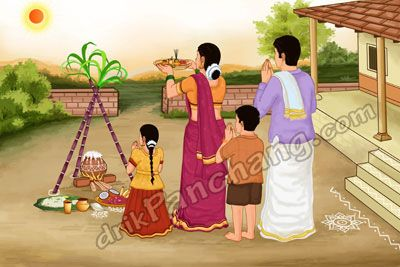 Festival clipart pongal festival Festival Pongal a with morning