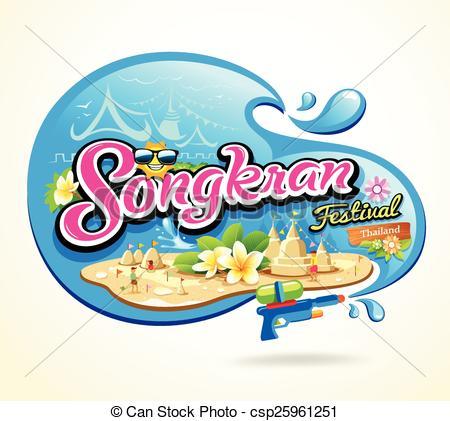 Festival clipart songkarn Pagoda of Songkran and Vector
