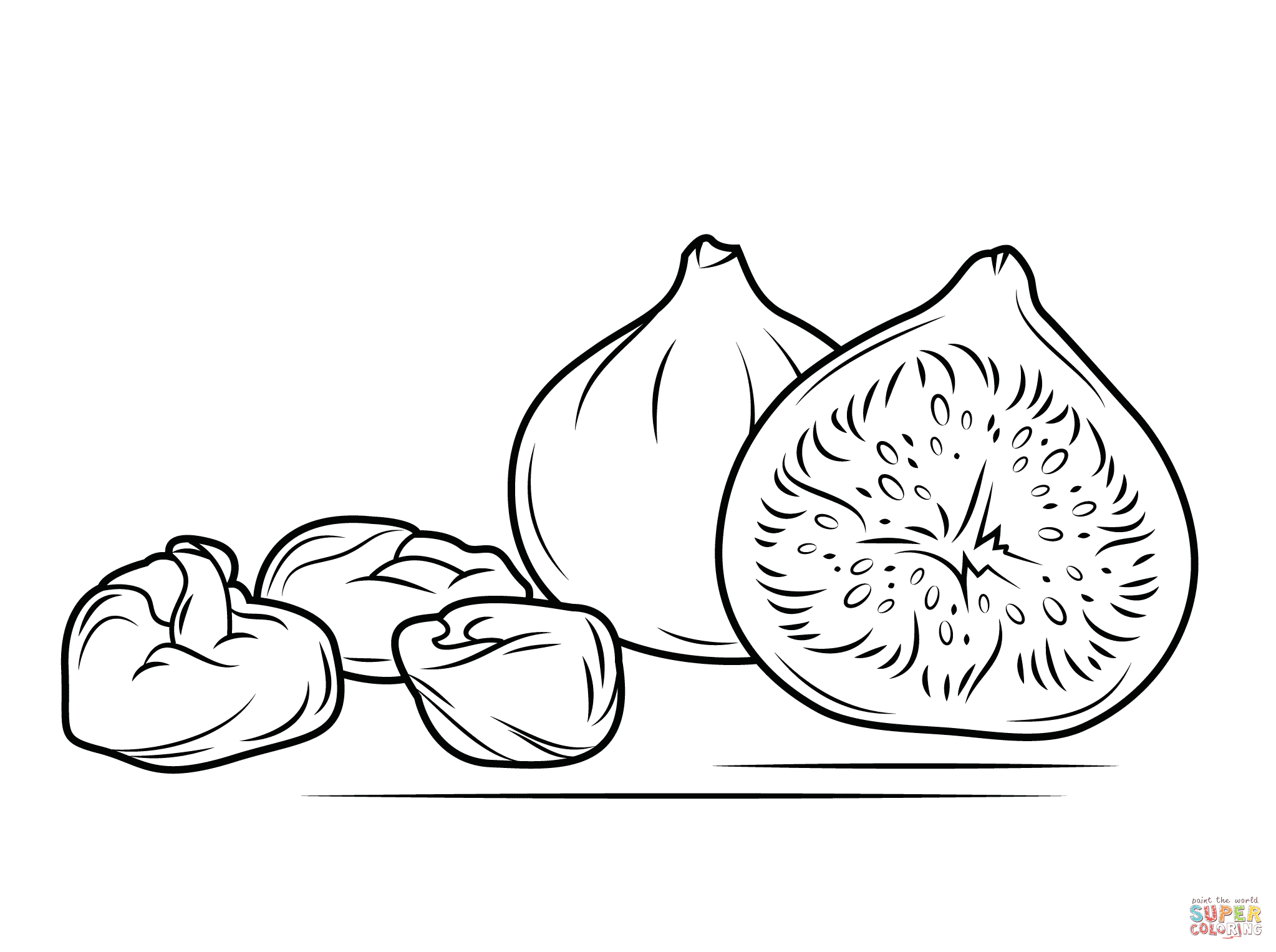 Fig clipart black and white Pages Dry Pages Figs and