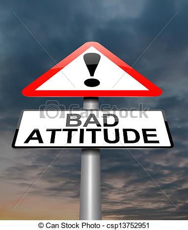 Fight clipart bad attitude Stock Bad  Illustration Bad