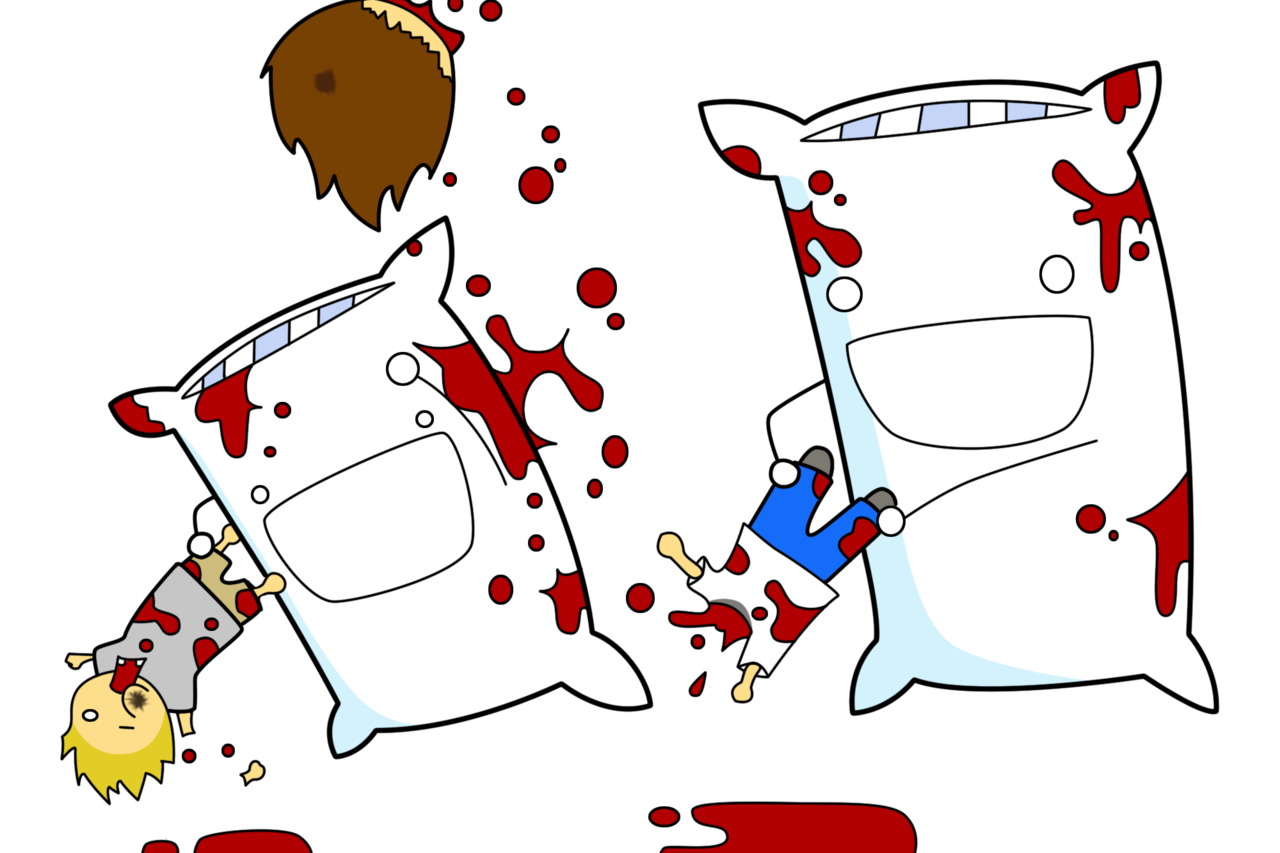 Pillow clipart night Fight pillow Pillow net posts