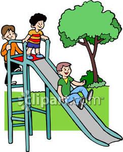 Park clipart playground slide Clipart Clip Panda playground Free