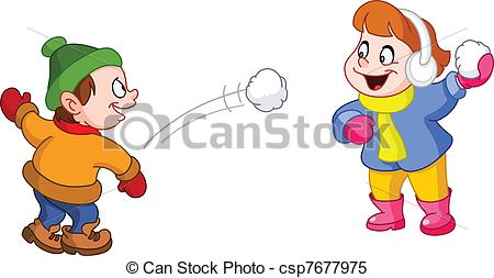 Fight clipart snow Snow  playing snow of