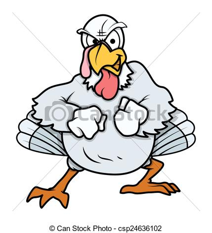 Turkey clipart angry #3