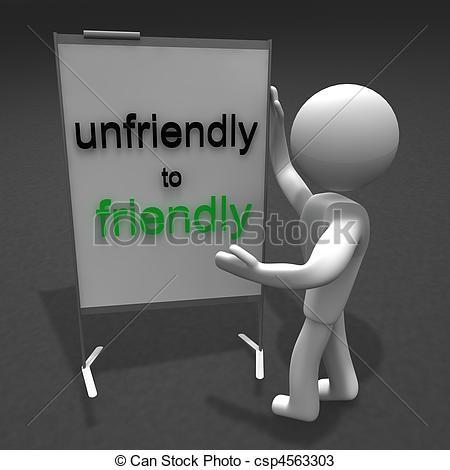 Fight clipart unfriendly Friendly Stock to Illustration unfriendly