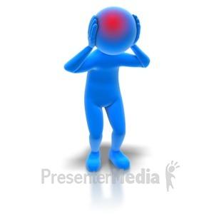 Figurine clipart 3d stick figure Media Templates Stick Headache Presentation