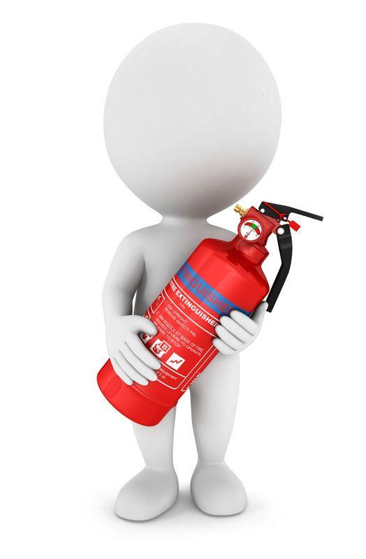 Figurine clipart 3d stick figure 150 3D Man Fire Extinguisher