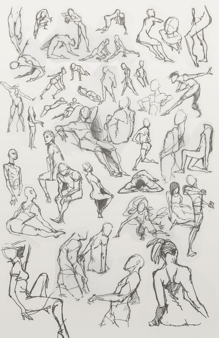 Figurine clipart action drawing Dou Best action poses poses