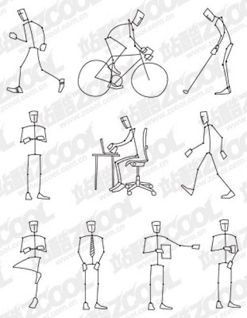 Figurine clipart action drawing Poses Best stick ideas for