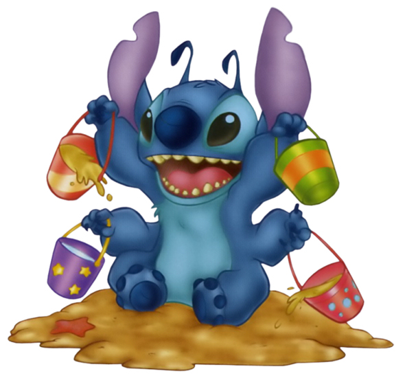 Figurine clipart cartoon character Stitch Clipart and Disney's Animated