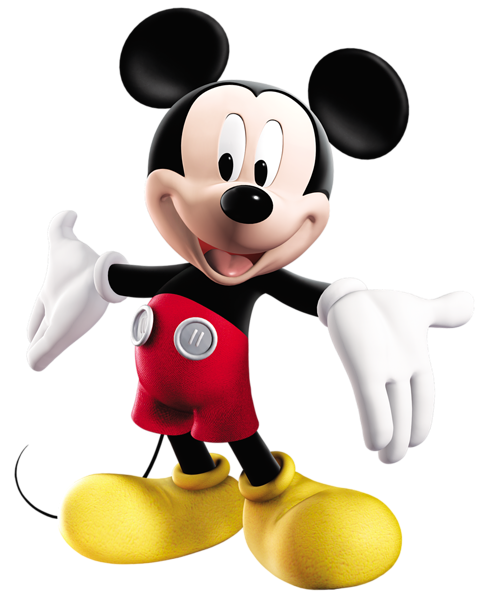 Figurine clipart cartoon character Mouse Mickey PNG Art Christmas