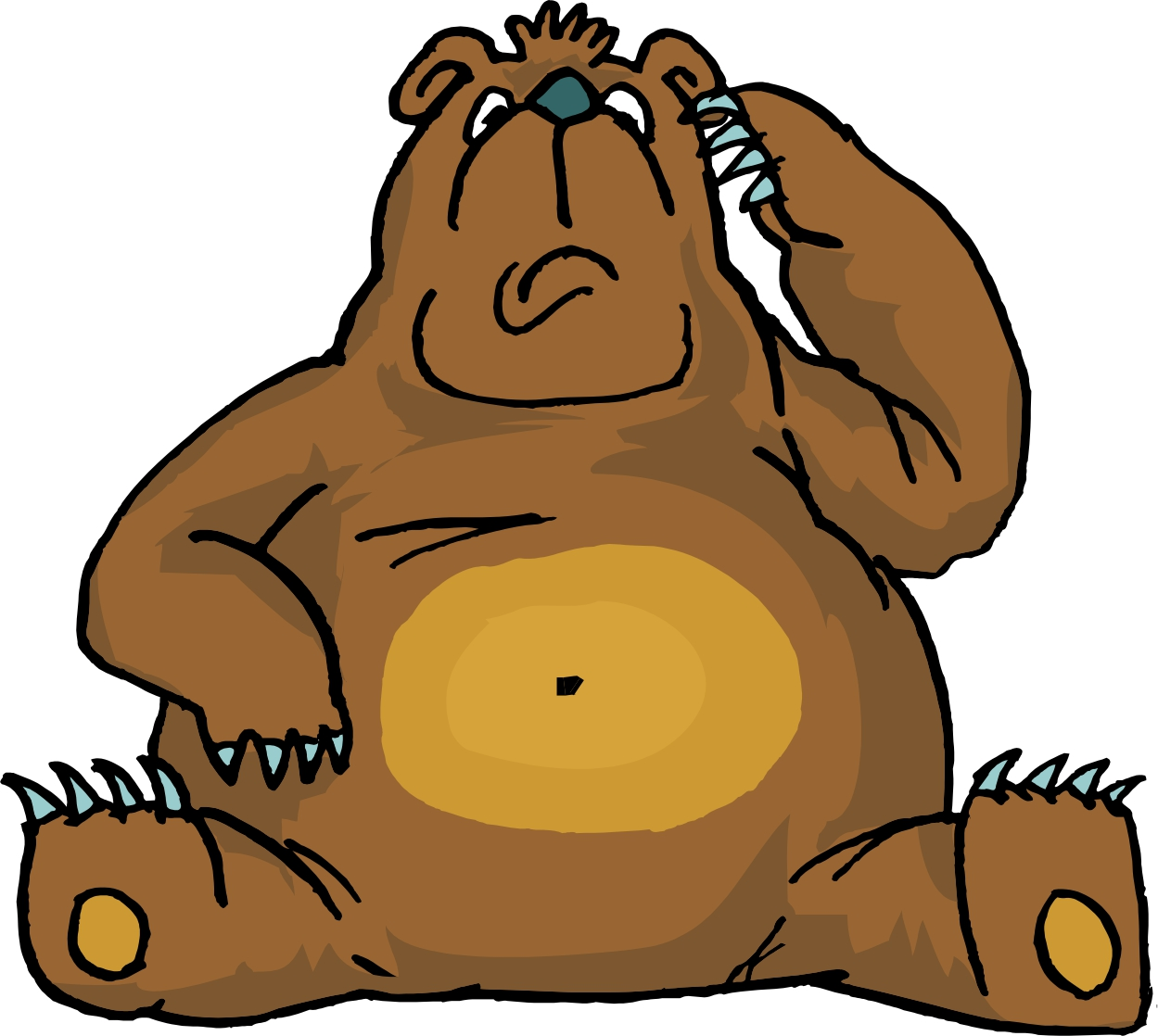 Brown Bear clipart angry Bear  jpg cartoon confused