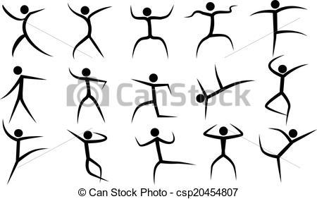 Figurine clipart dancing Figurines Clipart figurines dancing vector