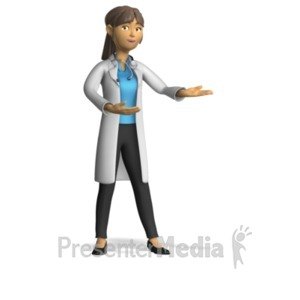 Figurine clipart data chart Doctor Presentation Gesture Templates Clipart