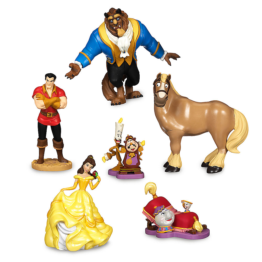 Figurine clipart data collection Set Beauty Disney Play Set