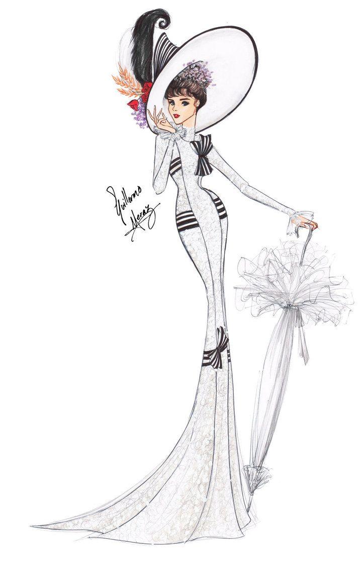 Drawn caricature fashion On model FIGURINES show big