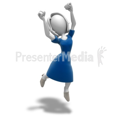 Figurine clipart excited Presentations Jumping 9913 Team Celebration