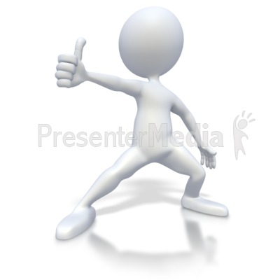 3D clipart thumbs up Art Figure for PowerPoint Clip