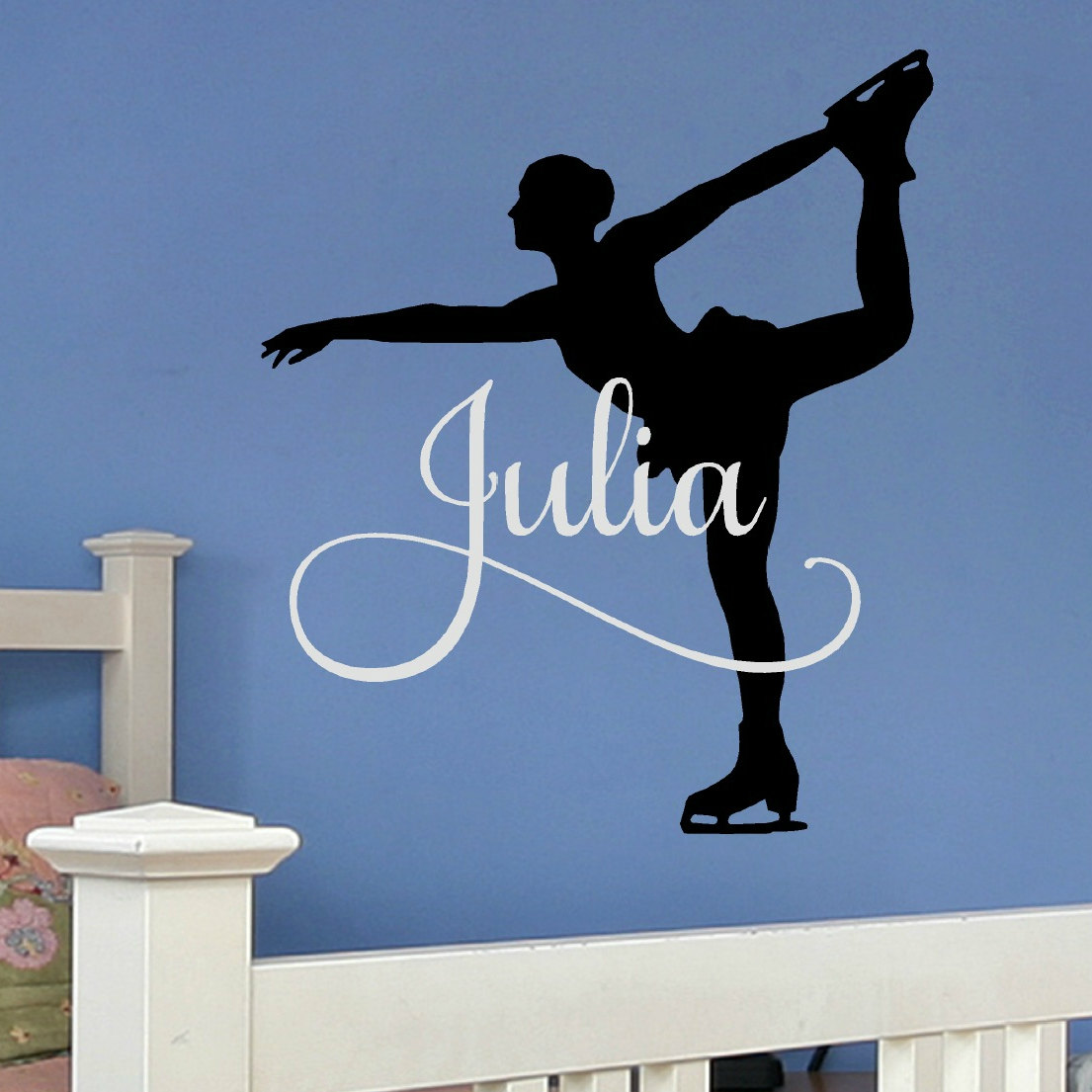 Figurine clipart figure skater Figure Wall Skating Decal Gift