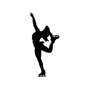 Figurine clipart figure skater (1) Skating Figure Figure Polyvore