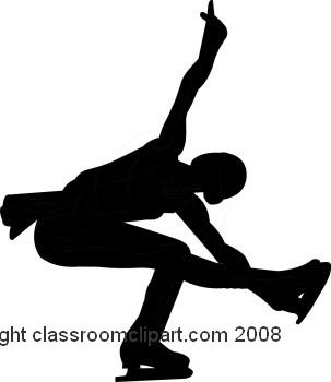 Figurine clipart figure skater Ice skat Silhouette Skating Silhouettes