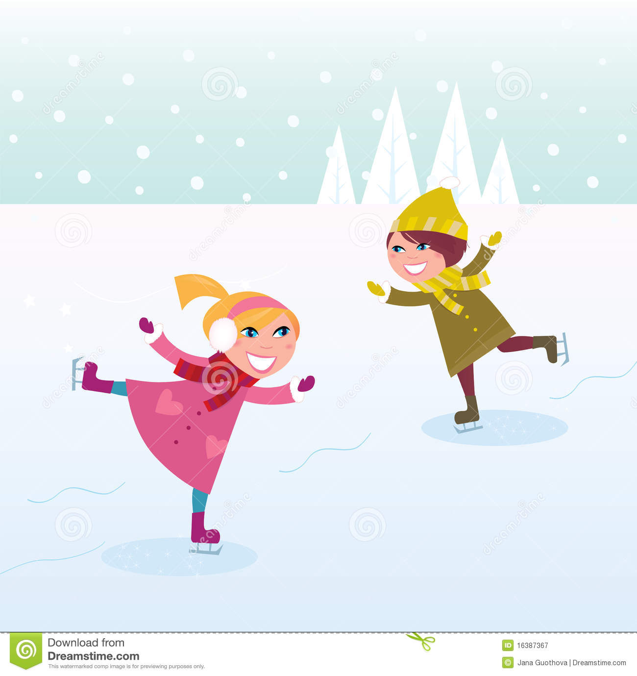 Figurine clipart figure skater Free skating And clipart Skating