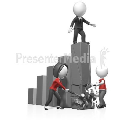 Figurine clipart graph Bar Graph Break Clipart Presentation