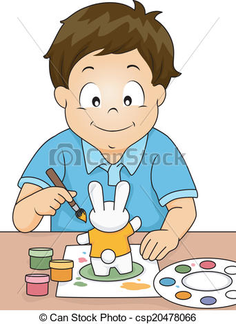 Artwork clipart boy painting A Illustration Figurine Boy csp20478066