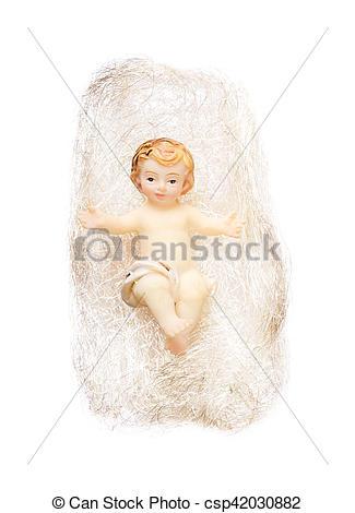 Figurine clipart hair Hair on figurine Christ white