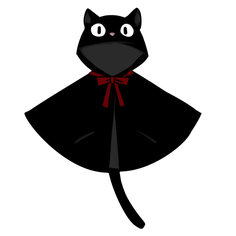 Figurine clipart hooded Service Halloween Cat Capes Cosplay