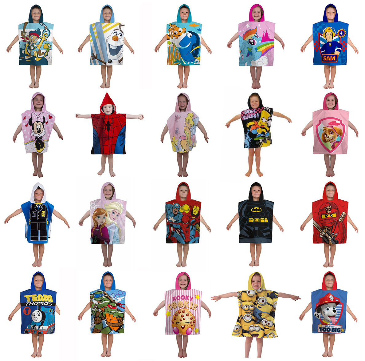 Figurine clipart hooded Hooded Hooded Childrens Ponchos Childrens