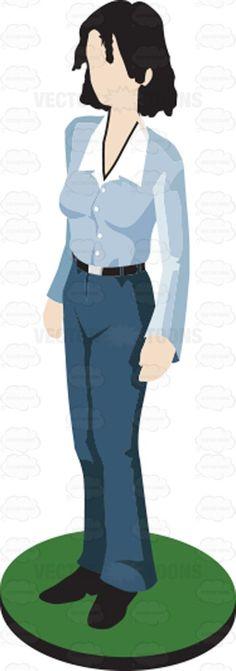 Figurine clipart man woman Cartoon Woman  Arms Cartoon