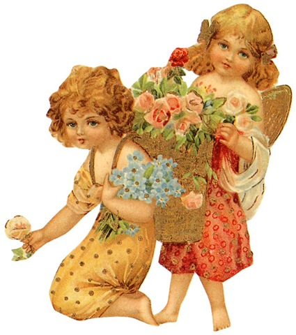 Figurine clipart mother Pink two roses from girls